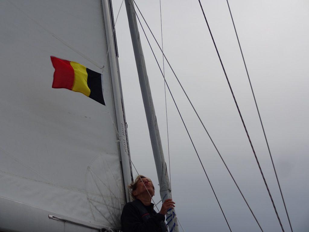 die zweite Gastlandflagge