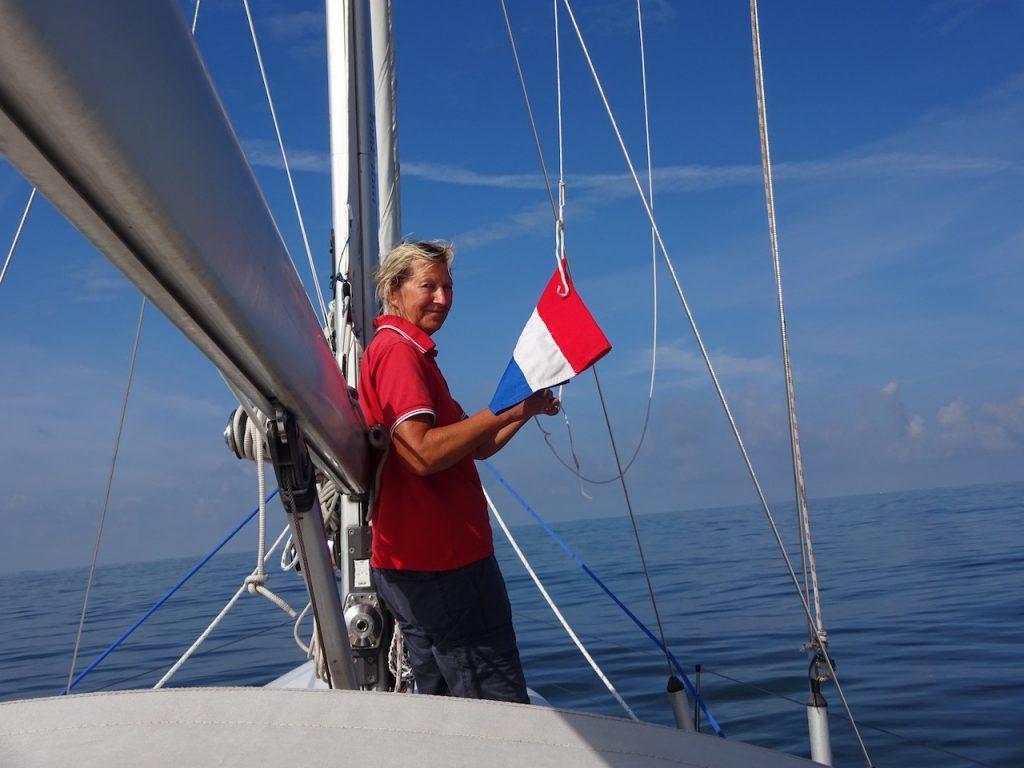 die erste Gastlandflagge dieser Reise