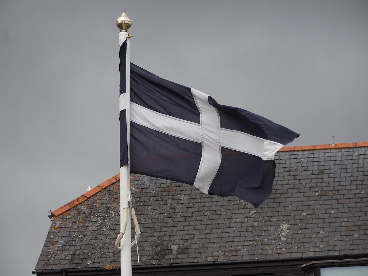 die Flagge von Cornwall