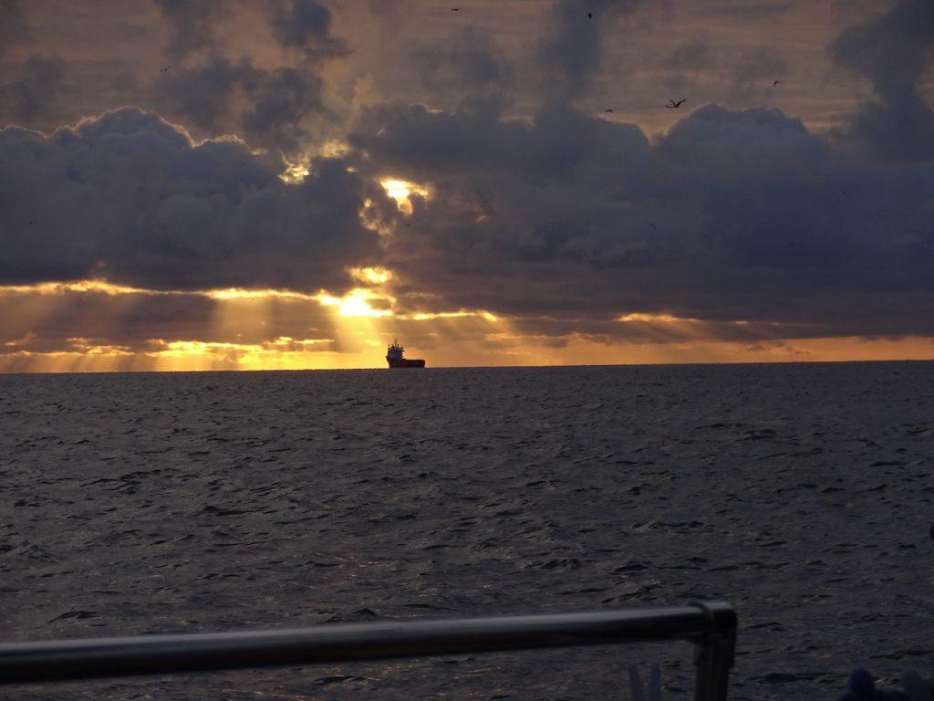 Sonnenaufgang bei der Abreise nach Scheveningen