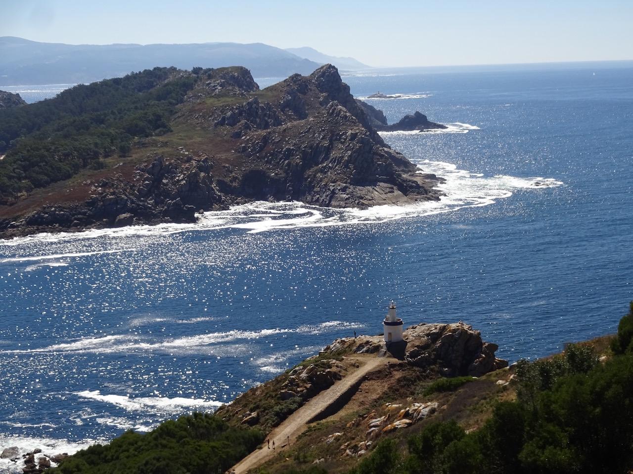 Blick auf die raue Atlantik Seite der Inseln