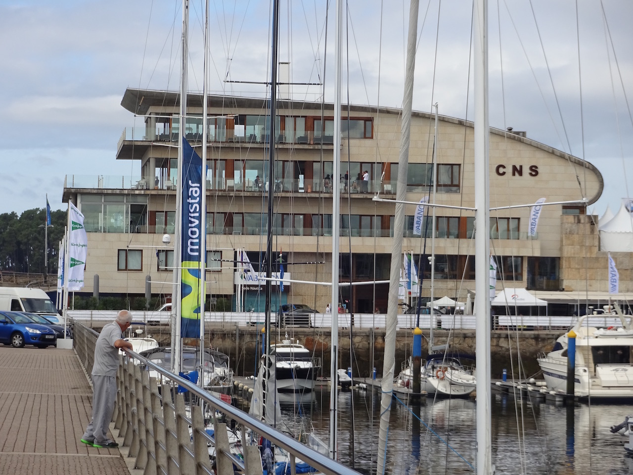 der Hafen von Sanenxo, hier trafen wir Juan Carlos