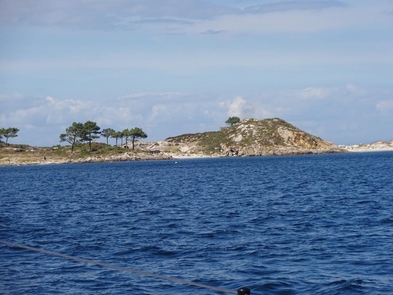 Anfahrt zu den Islas Cies