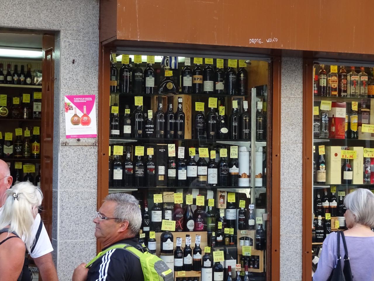 eine überschaubare Auswahl an Getränken