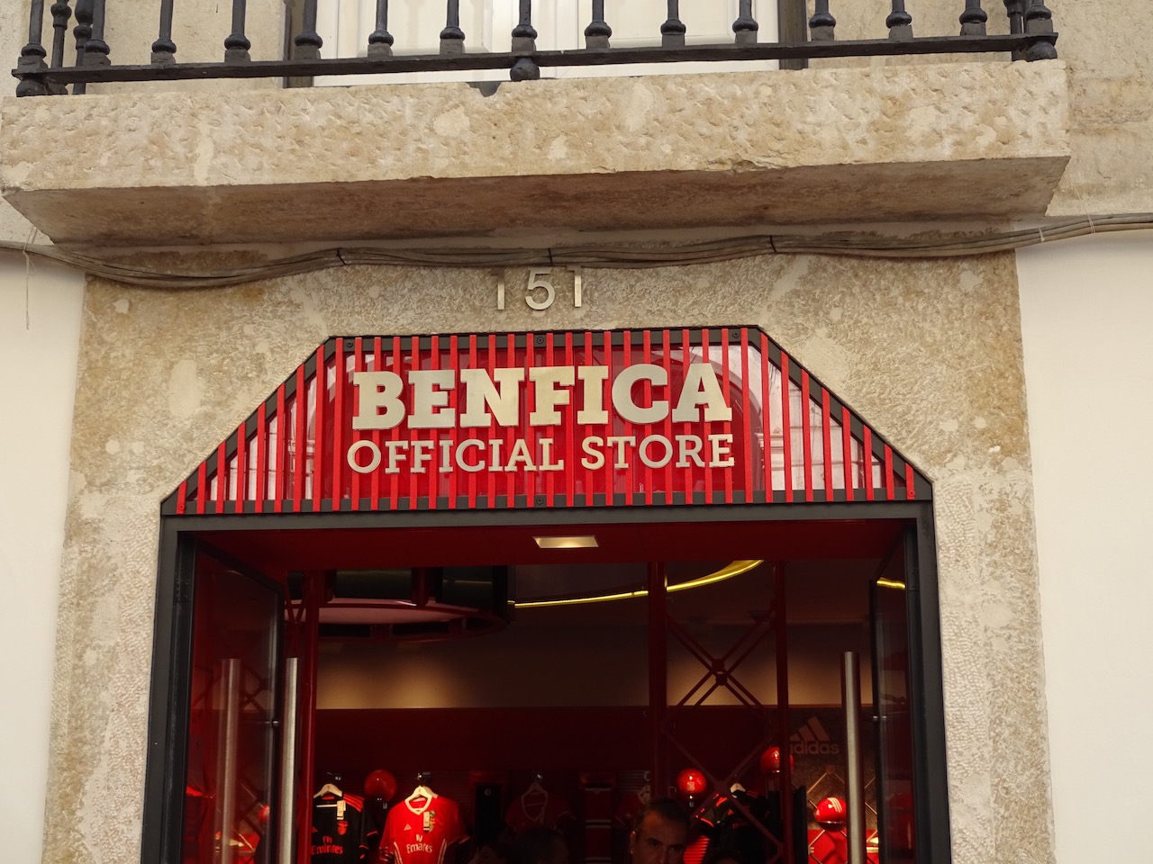 Fanshop von Benfica Lissabon