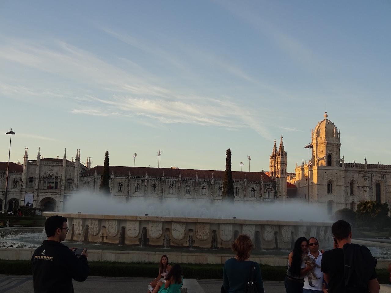 Springbrunnen vor dem Mosteiro dos Jerónimos