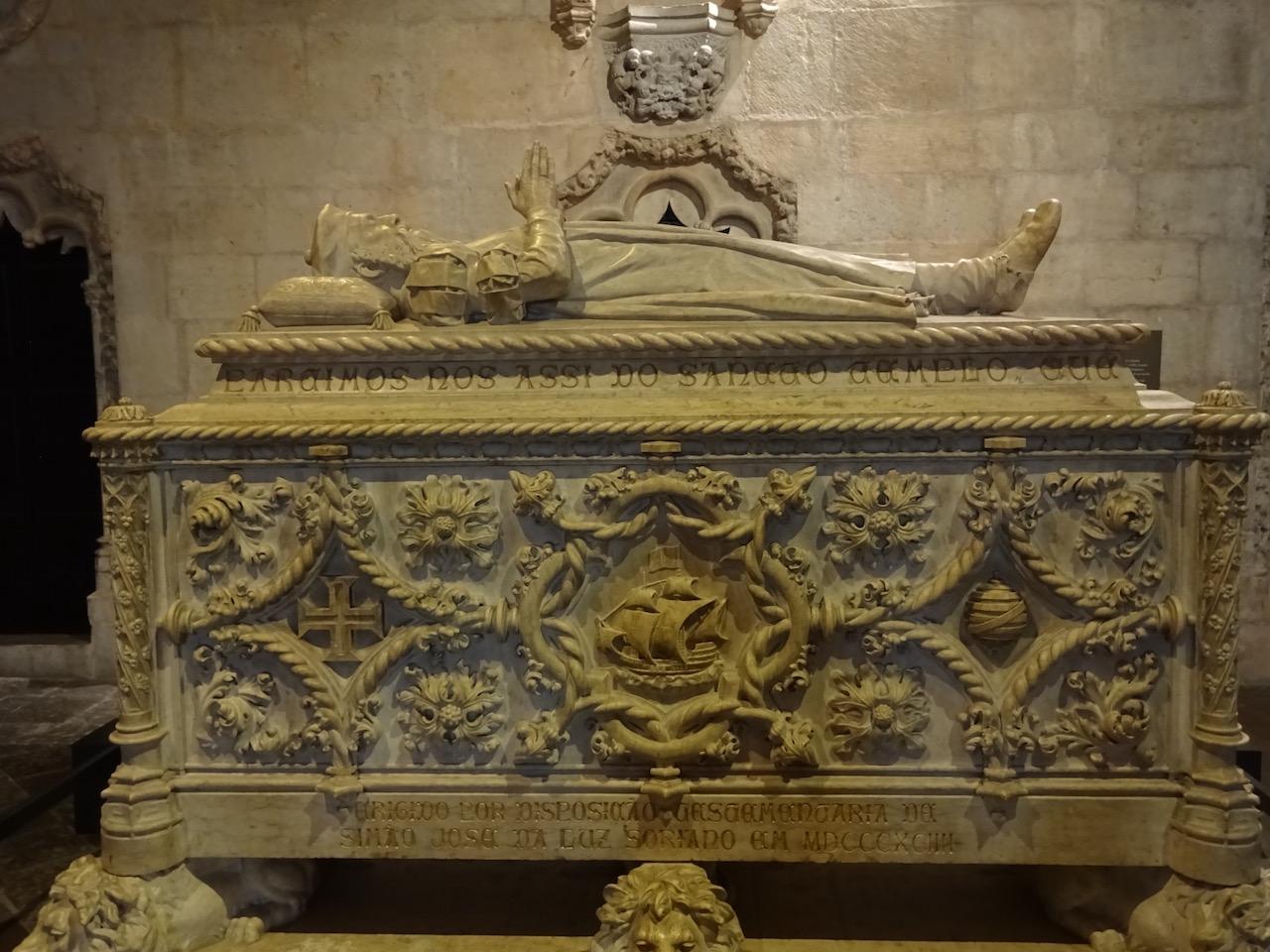 von Vasco da Gama, Das Kloster überstand mit dem Torre de Belem als eines der wenigen Gebäude das große Erdbeben von 1755
