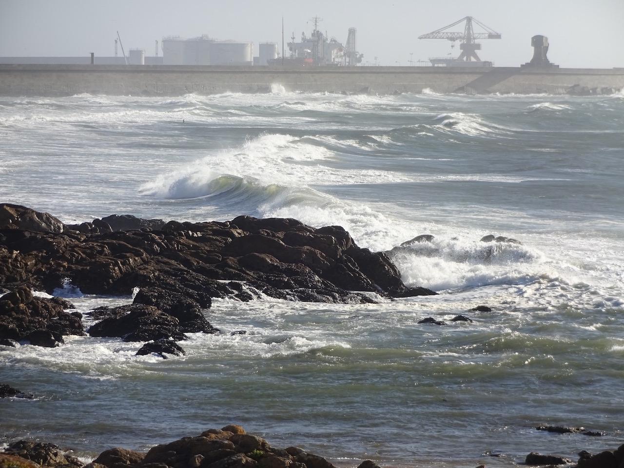 hier tummeln sich die Surfer und warten auf ihre perfekte Welle
