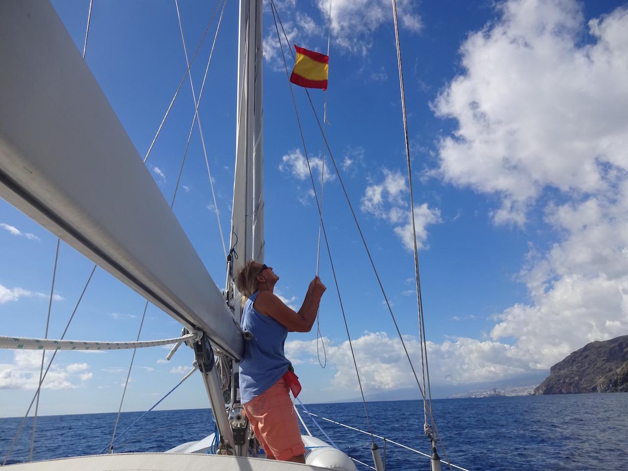 die nächste Gastlandflagge ist die von Barbados
