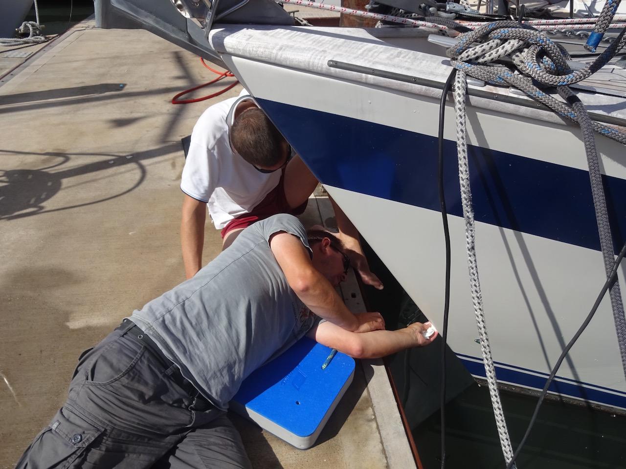 kleinere Schäden werden sofort begutachtet und repariert